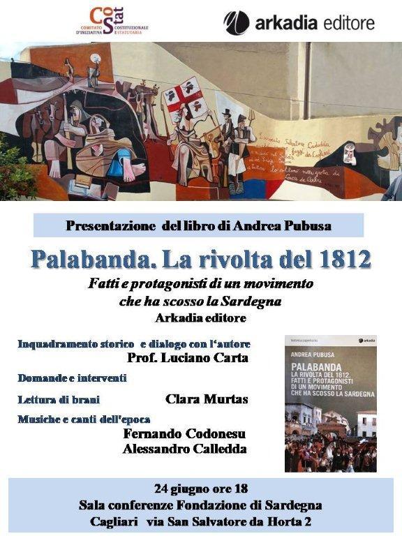 Oggi alle 18 presentazione del libro di Andrea Pubusa su Palabanda 1812